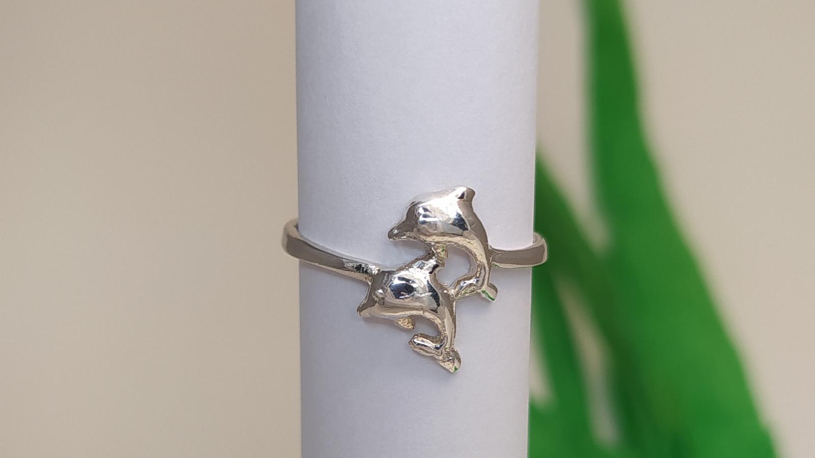 Két Palackorrú Delin Ezüst Gyűrű
