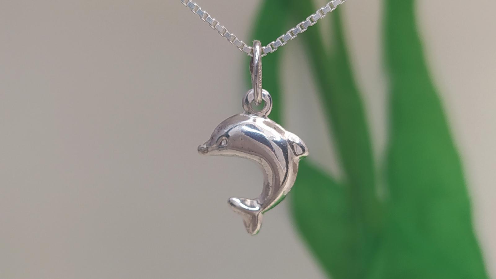 Ívelt Farokuszonyú Palackorrú Delfin Ezüst Medál